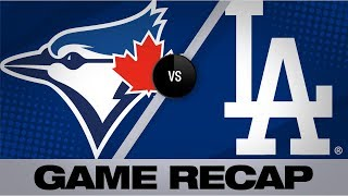 Hernandez's hit caps Dodgers' rally in 9th | Blue Jays-Dodgers Game Highlights 8/22/19