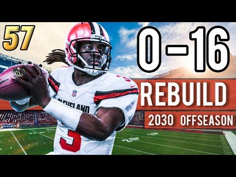 FREE AGENTS WANT TO LEAVE CLEVELAND?! (2030) - Madden 18 Browns 0-16 Rebuild | Ep.57