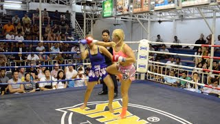 Katya Phuket Top Team Russia Vs Botan Thailand Female Muay Thai Fight 16 Dec 2015