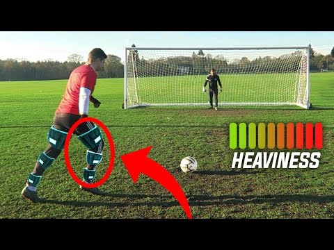 WORLDS HEAVIEST SHOOTING FOOTBALL CHALLENGE!! - Can You Do This?
