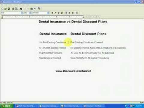 Discount Dental Plans vs Dental Insurance