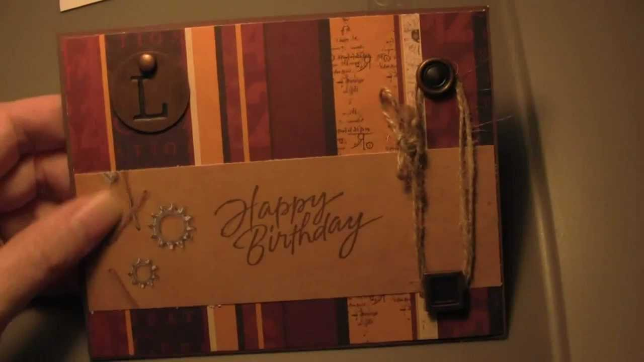 Simple Masculine Handmade Birthday Card