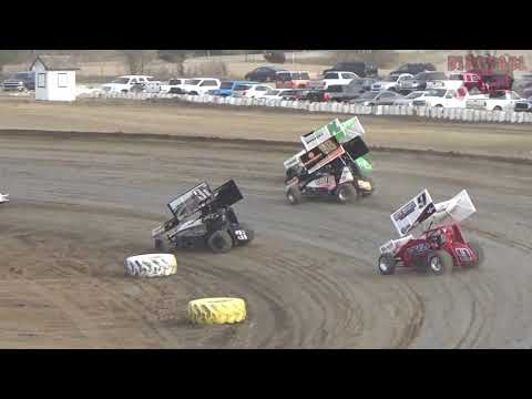 81 Speedway 2018 Air Capital Shootout: 3-31-18 - 360 Sprint Cars Heat Race 2