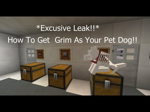 Minecraft: How to get Grim as your pet (TheDiamondMinecart's pet !!) No Mods !