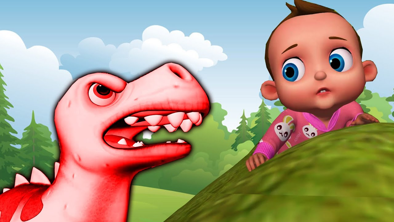 T-Rex Dinosaur Song | Hungry Dino chase Baby Fight Back +More Nursery Rhymes & Kids Song |Baby Songs