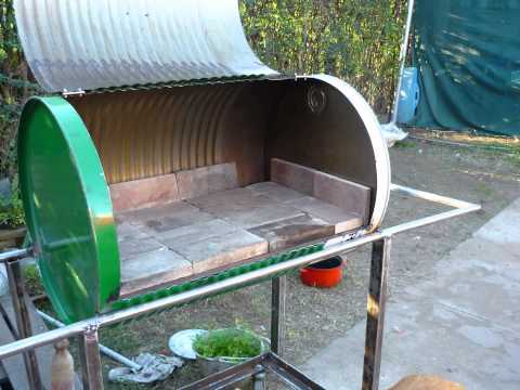 Fabricar chulengo o parrilla con un termotanque 1 doovi - Como hacer barbacoas ...