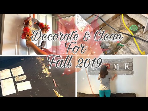 Decorate With Me For Fall On Budget 2019 || DIY Ideas|| Cleaning Motivation || Let's Clean Together