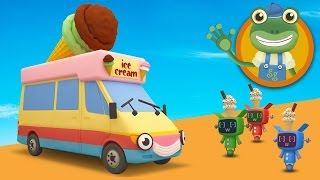 Vicky The Ice Cream Truck Visits Gecko's Garage | Toddler Fun Learning