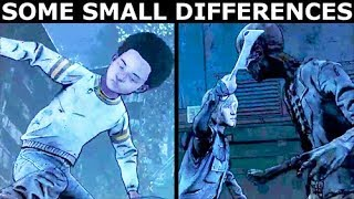 AJ Saves Clem, Violet Saves Clem - Difference Check - The Walking Dead Final Season 4 Episode 1