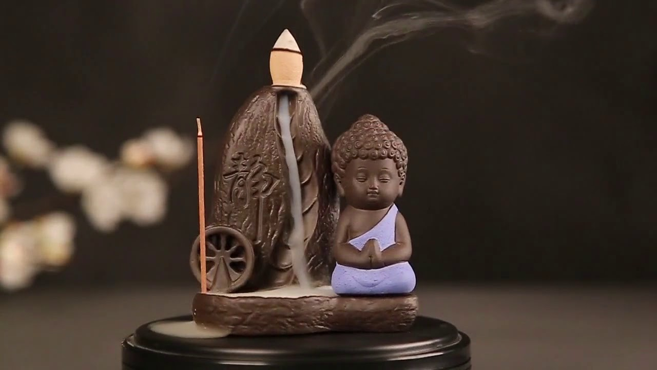 Estremamente Bruciatore incenso con statua di buddha - YouTube KS77