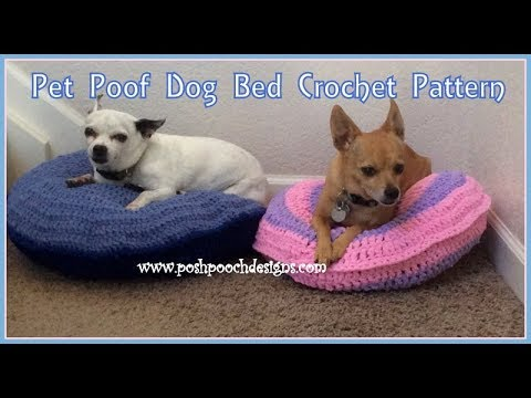 Pet Poof Dog Bed Crochet Pattern