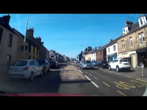 April Drive Along The High Street On Visit To Auchterarder Perthshire Scotland