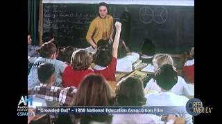"""""""Crowded Out"""" - 1958 NEA Film about Overcrowded Schools"""