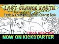 Endangered Species Coloring Book illustrator Niffer demonstrates drawing a Fossa- now on Kickstarter
