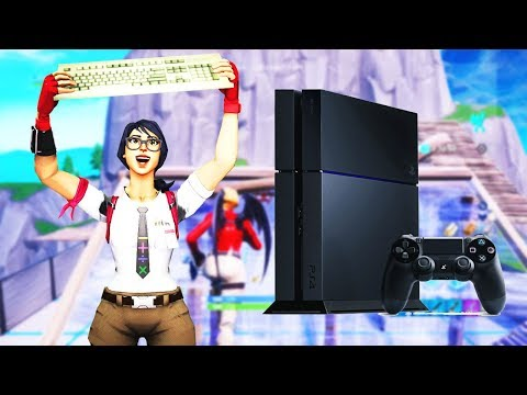 Keyboard And Mouse On PS4 - Fortnite Battle Royale - I Am Trash Lol