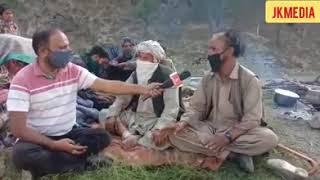 Nomadic tribes of Gujjars/Bakarwals are returning back from Kishtwar due to change of season