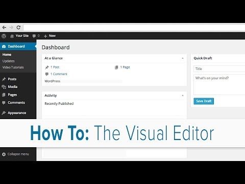 How to Use the Visual Editor