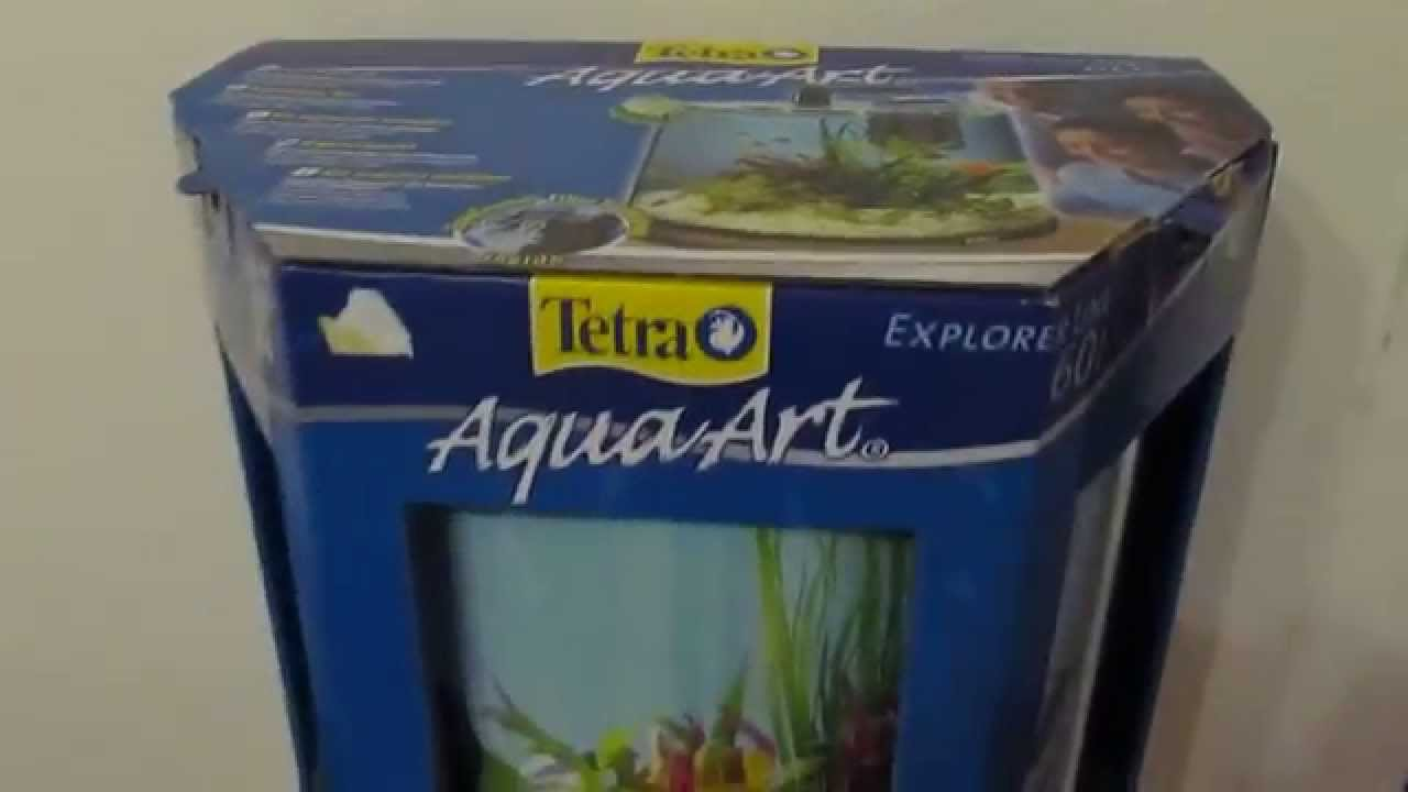 unboxing tetra aqua art aquarium 60 liter 180 youtube. Black Bedroom Furniture Sets. Home Design Ideas