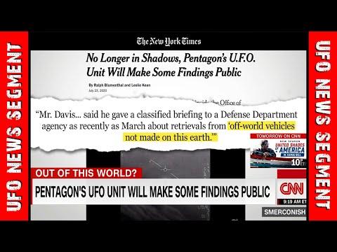 LATEST PENTAGON UFO • Offworld Vehicle Recovery • AATIP UAV CNN
