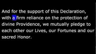 Declaration of Independence Read by future President John F Kennedy in 1958
