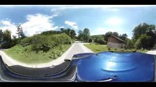 4k Samsung Gear 360 - car ride