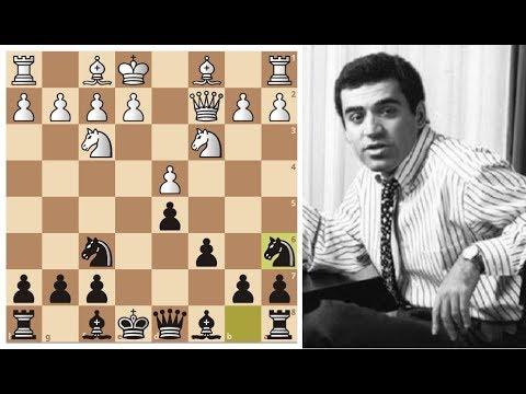 Шедевр позиционной игры от Гарри Каспарова! Шахматы.
