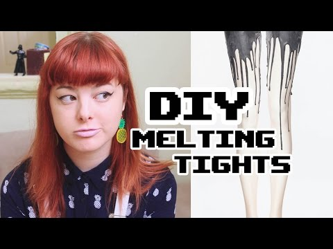 Make Thrift Buy #5 Melting Tights (Last Minute Halloween Costume?!)