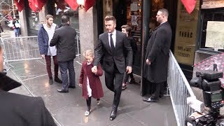 David Beckham, Victoria Beckham and their kids leaving Balthazar restaurant in Soho