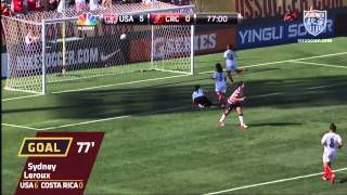 U.S. WNT vs. Costa Rica: Sydney Leroux Goal - Sept. 1, 2012