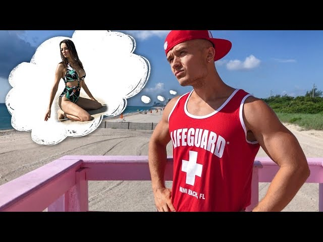 Drowning Beauty saved by Miami Baywatch