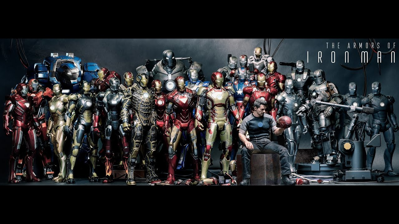 Iron man suits mark 1 - mark 51