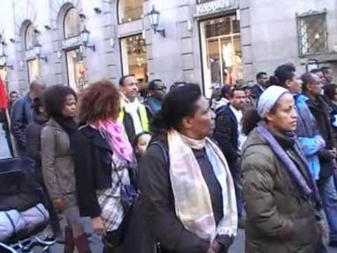 Demonistration of Ethiopians in Norway