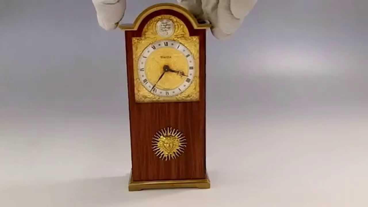 Vintage swiza tempus fugit mini grandfather clock with reuge youtube amipublicfo Choice Image
