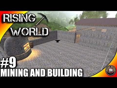 Rising World Let's Play EP09 - Building, Mining, Sweet Barrels - Rising World Gameplay S01EP09