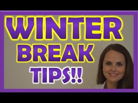 Nursing School Winter Break Tips!