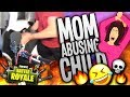 Mom Abusing Child on FORTNITE 2! (Hilarious Voice Impression Reactions!)