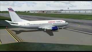 Orient Thai Airlines OX8103 737-300 HS-BRL Chiang Mai (CNX) - Bangkok-Don Mueang (DMK)