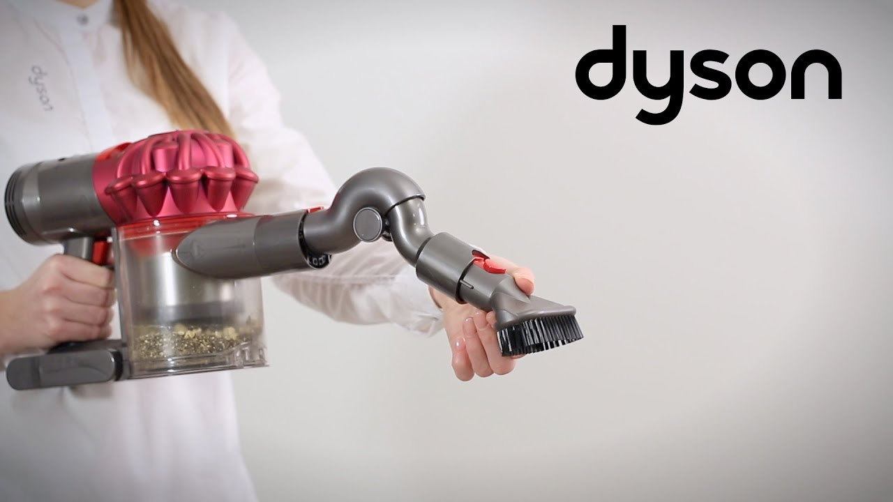 dyson v7 cord free vacuums using the tools ca youtube. Black Bedroom Furniture Sets. Home Design Ideas