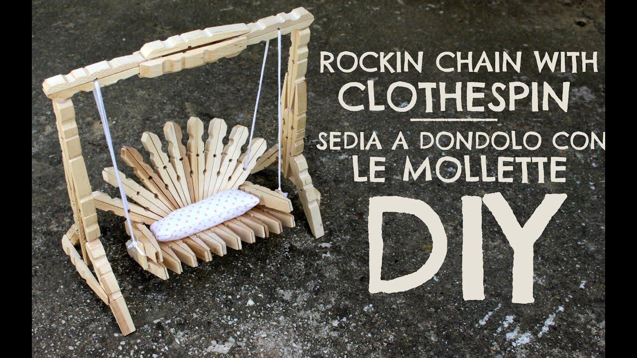 rockin chain with clothespin sedia a dondolo con le