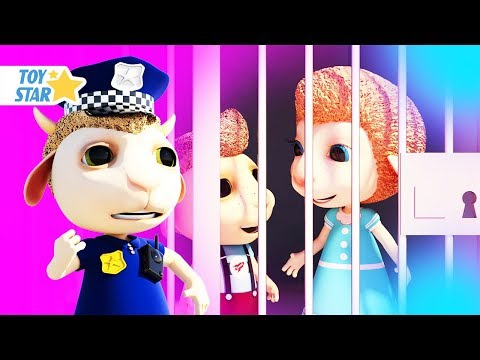New 3D Cartoon For Kids ¦ Dolly And Friends ¦ Johny Police Jail Playhouse Toy #110