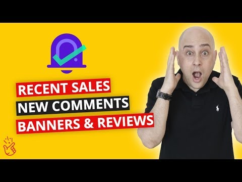 Free Way To Increase Engagement w/ Banner Notifications, Also: Recent Sales, Reviews & Comments