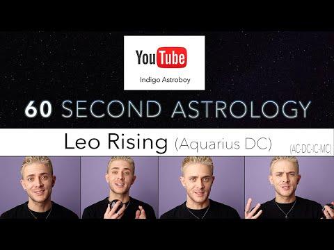 60 Second Astrology | AC-DC-IC-MC | Leo Rising (Aquarius DC)