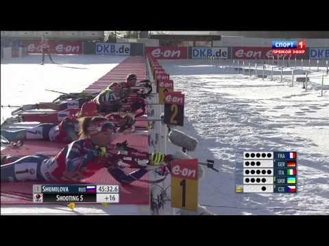 Биатлон  'Кубок мира' HD Эстафета  Женщины 25 01 2015 Италия   Смотреть онлайн видео трансляцию