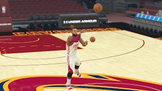 who can make a half court shot first on the cavaliers lebron kyrie or kevin love nba 2k17 gameplay