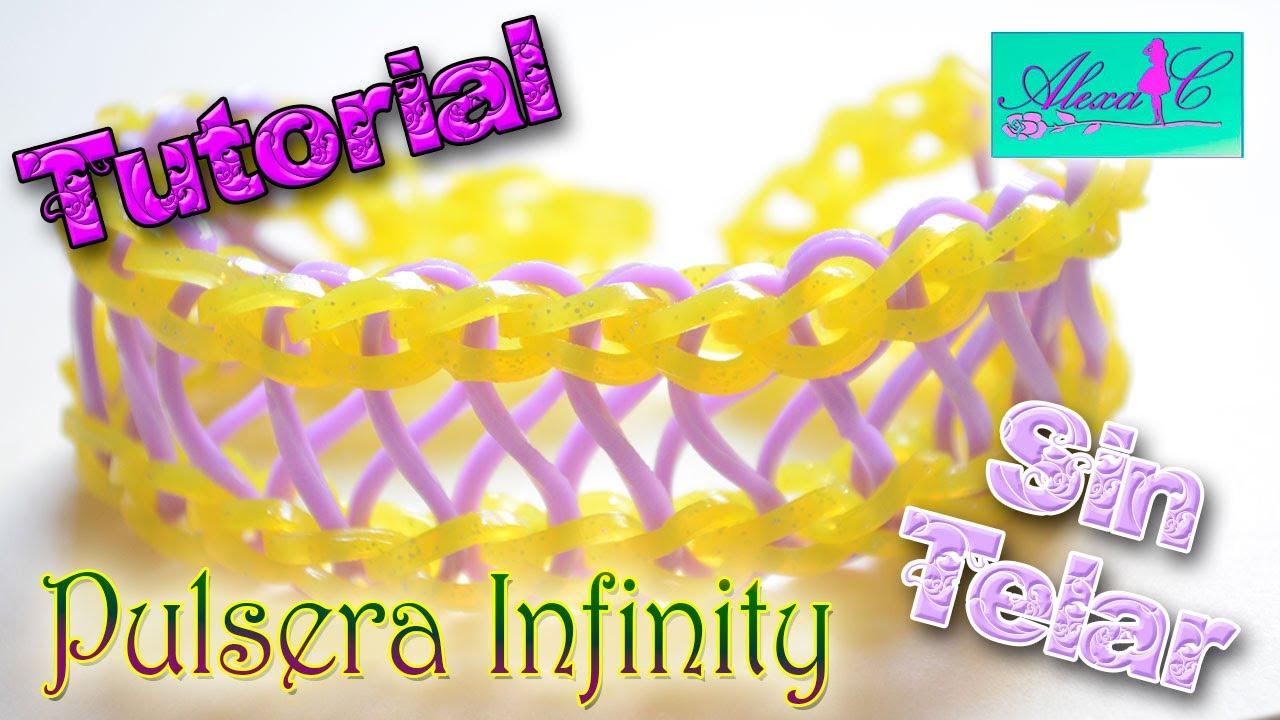 5d06a77addba ♥ Tutorial: Pulsera Infinity de gomitas (sin telar) ♥