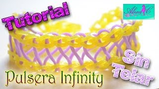 Repeat youtube video ♥ Tutorial: Pulsera Infinity de gomitas (sin telar) ♥