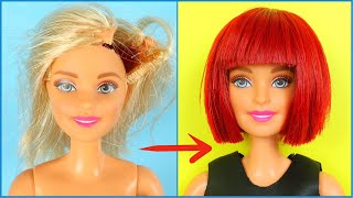 DIY BARBIE HAIRSTYLES - WIG | RECYCLE AND MAKE OLD TOYS GREAT AGAIN!