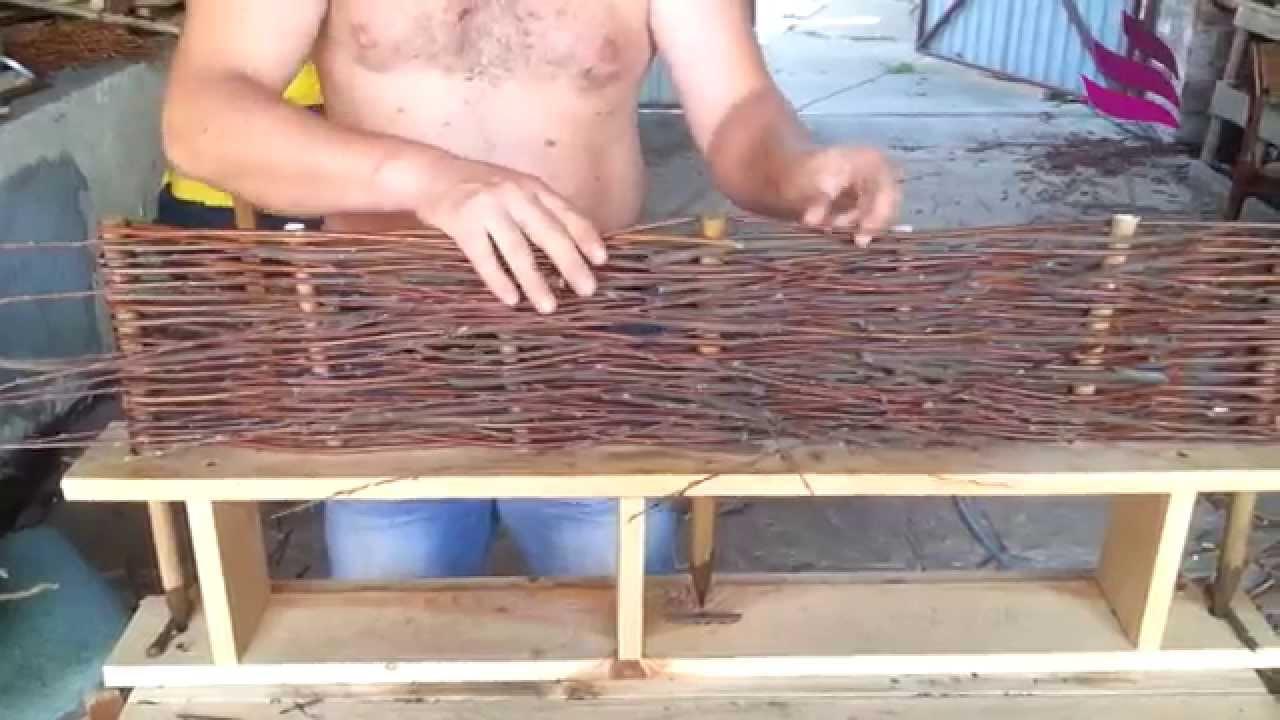 Profi Macht Einen Weidenzaun Handmade Willow Fence Youtube