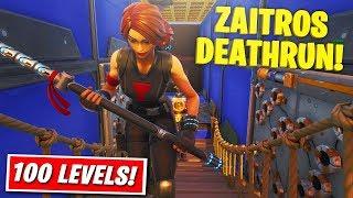 Zaitr0s 100 Level *DEATHRUN*!! - Fortnite Creative Svenska