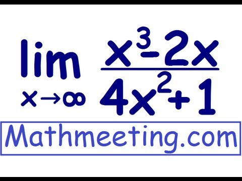 Limits at Infinity - Calculus